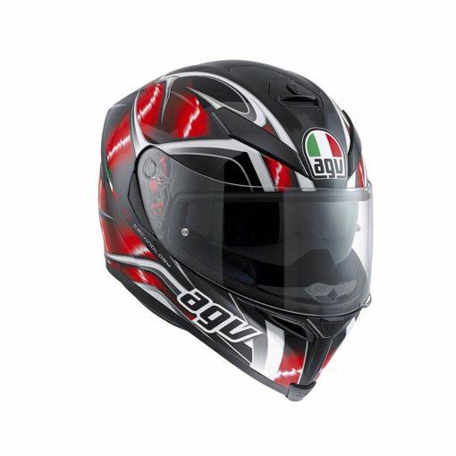 AGV K 5 S Top Matt Black Red White Hurrcane Plk Full Face Helmet1