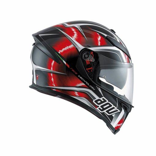 AGV K 5 S Top Matt Black Red White Hurrcane Plk Full Face Helmet21