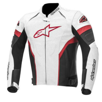 Alpinestars GP Plus R Perforted Leather Black White Red Jacket