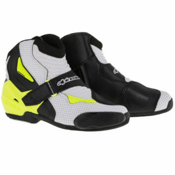Alpinestars SMX 1 R Vented Black White Fluorescent Yellow Boots