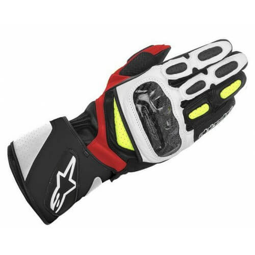 Alpinestars SP 2 Black White Yellow Red Riding Gloves