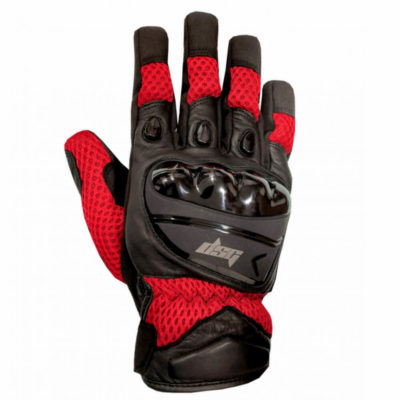 DSG Aire Black Red Riding Gloves