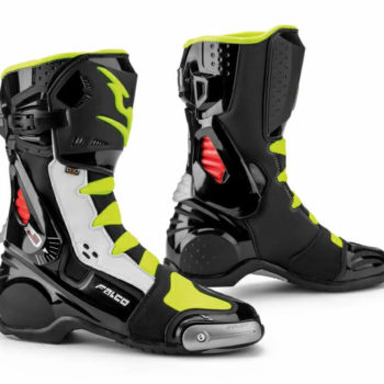 Falco Eso Lx 2.1 Black White Red Fluorescent Orange Riding Boots 1
