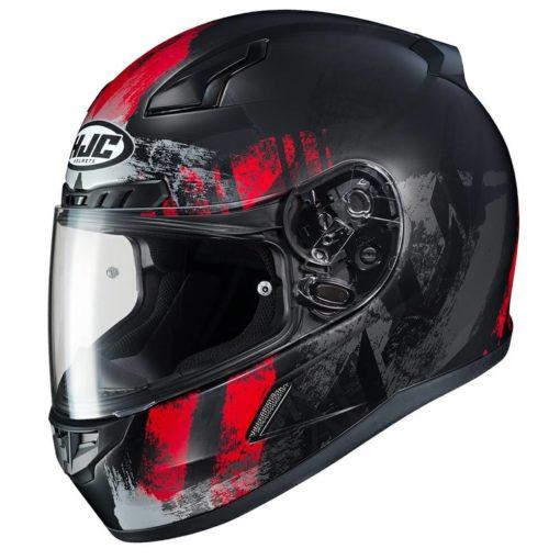 HJC CL 17 Arica MC1SF Matt Black Red Full Face Helmet1