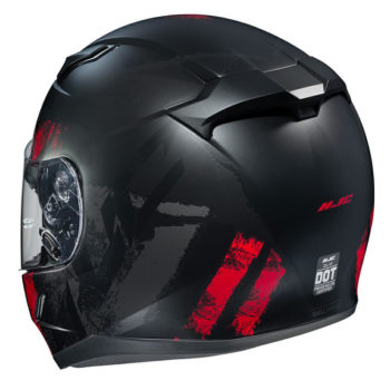HJC CL 17 Arica MC1SF Matt Black Red Full Face Helmet2