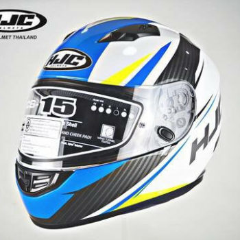 HJC CS 15 Kane MC2 Matt White Blue Black Full Face Helmet