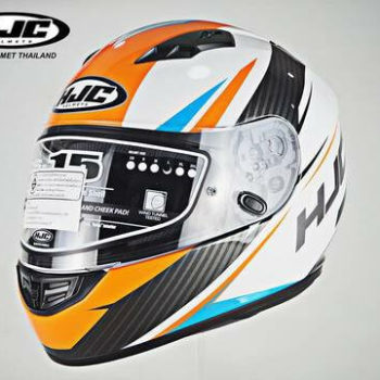 HJC CS 15 Kane MC7 Matt White Orange Black Full Face Helmet