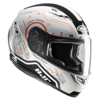 HJC CS 15 Safa MC7 Matt White Orange Black Full Face Helmet