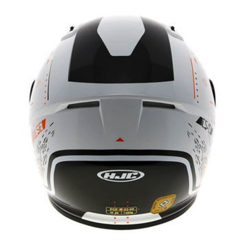HJC CS 15 Safa MC7 Matt White Orange Black Full Face Helmet2