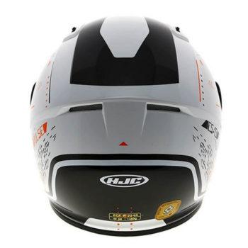 HJC CS 15 Safa MC7 Matt White Orange Black Full Face Helmet2