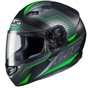 HJC CS 15 TRION MC4SF Matt Black Green Grey Full Face Helmet