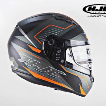 HJC CS 15 TRION MC6HSF Matt Black Orange Grey Full Face Helmet
