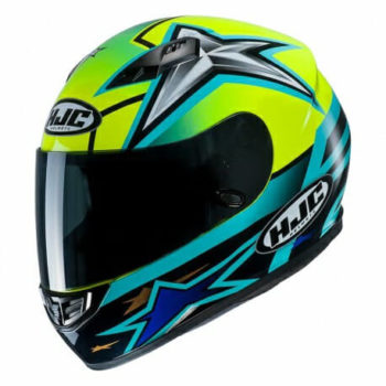 HJC CS 15 Toni MC4H Matt Black Blue Green Full Face Helmet