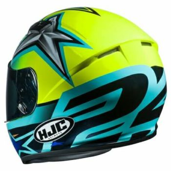 HJC CS 15 Toni MC4H Matt Black Blue Green Full Face Helmet2