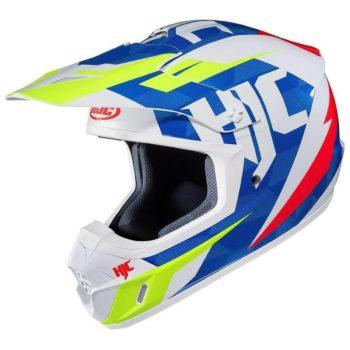 HJC CS MX2 DAKOTA MC23 Matt White Blue Yellow Full Face Helmet