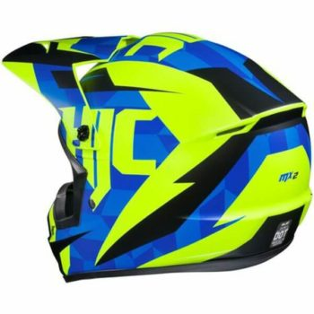 HJC CS MX2 DAKOTA MC2SF Matt Blue Green Black Flip Up Helmet1