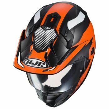 HJC DX X1 AWING MC7SF Matt Black Orange White Full Face Helmet1