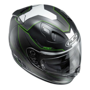 HJC FG ST BESTY MC4SF Matt Black Green White Full Face Helmet