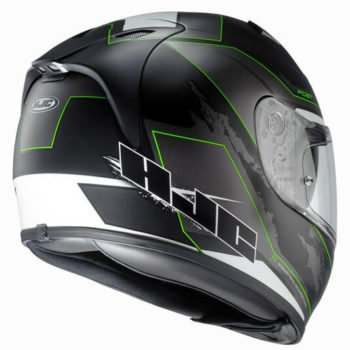 HJC FG ST BESTY MC4SF Matt Black Green White Full Face Helmet2