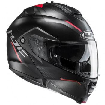 HJC IS MAX2 DOVA MC1SF Matt Black Red Grey Flip Up Helmet