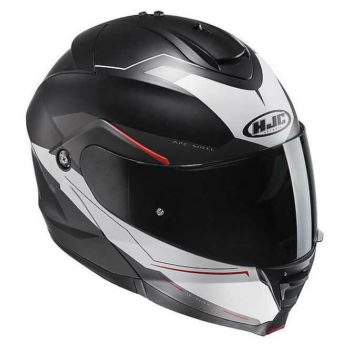 HJC IS MAX2 Magma MC1SF Matt Black Red White Flip Up Helmet