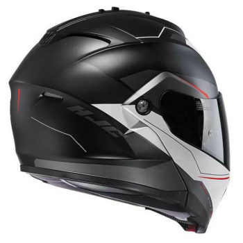 HJC IS MAX2 Magma MC1SF Matt Black Red White Flip Up Helmet1