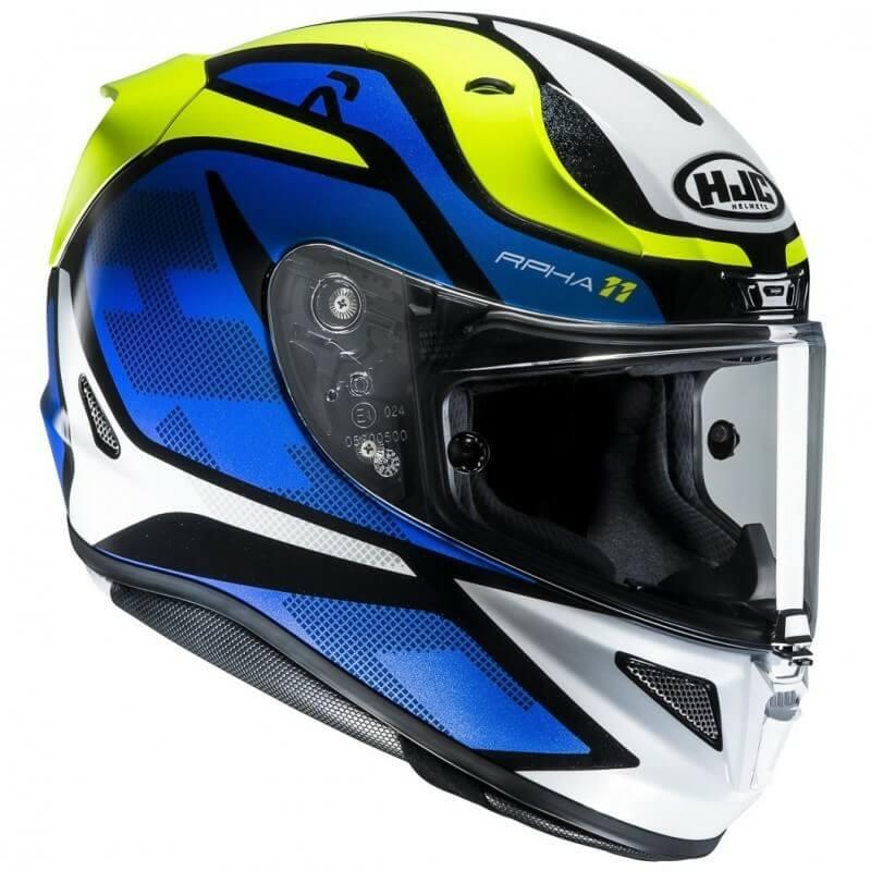 HJC RPHA 11 Deroka MC2 Matt Blue Green White Full Face Helmet