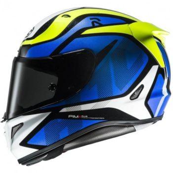 HJC RPHA 11 Deroka MC2 Matt Blue Green White Full Face Helmet2