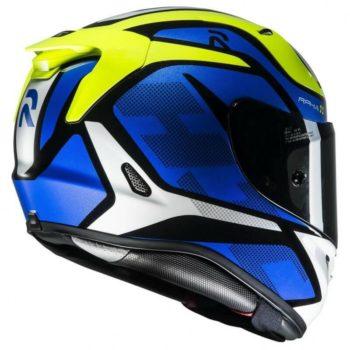 HJC RPHA 11 Deroka MC2 Matt Blue Green White Full Face Helmet3