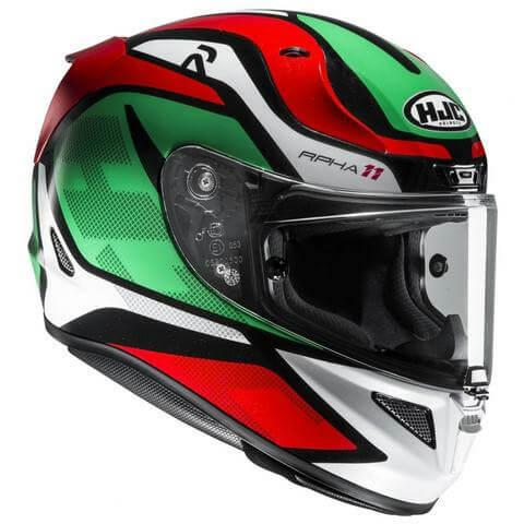 HJC RPHA 11 Deroka MC4 Matt White Red Green Full Face Helmet