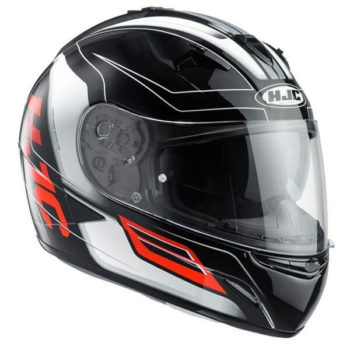 HJC TR1 Skyride MC1 Gloss Black Orange White Full Face Helmet