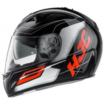 HJC TR1 Skyride MC1 Gloss Black Orange White Full Face Helmet1