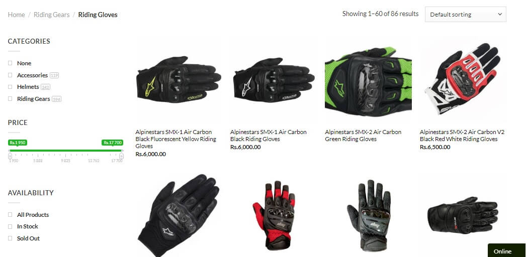 Website Screenshot Gloves Blog