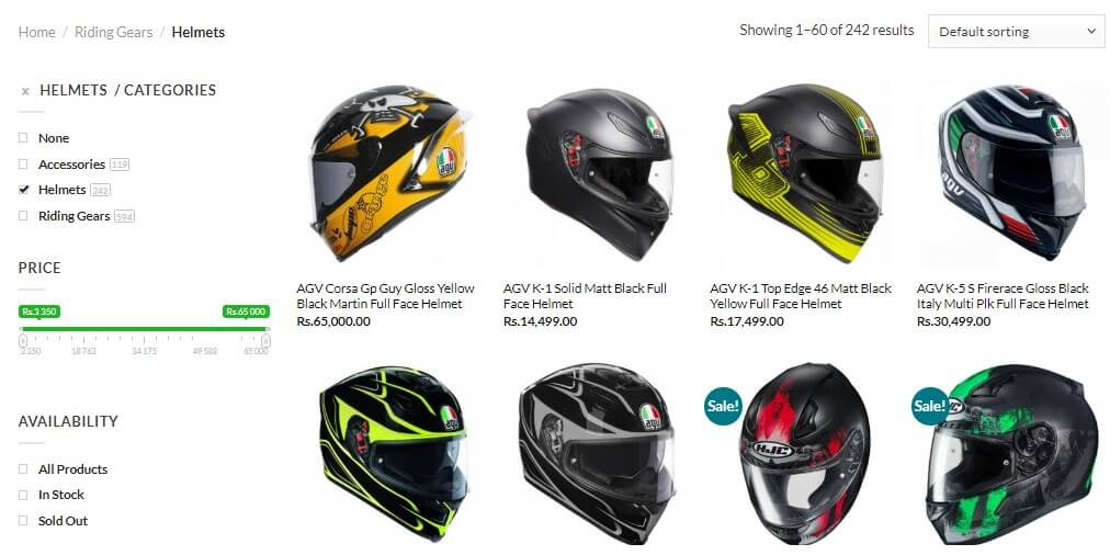 Website Screenshot Helmets Blog