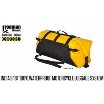 Dirtsack Frogman Waterproof Black Yellow Tail Bag2