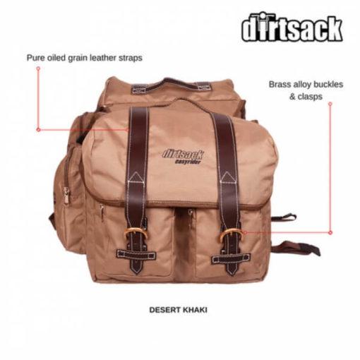Dirtsack Long Ranger Easyrider Desert Khaki Saddle Bag2