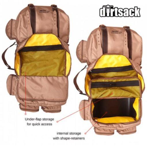 Dirtsack Long Ranger Easyrider Desert Khaki Saddle Bag4