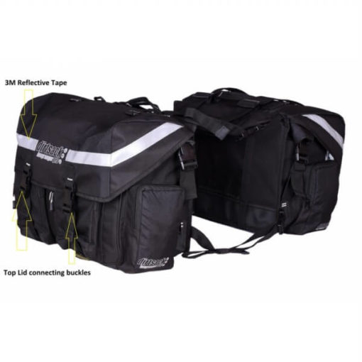 Dirtsack Long Ranger Pro Waterproof Black Saddle Bag1