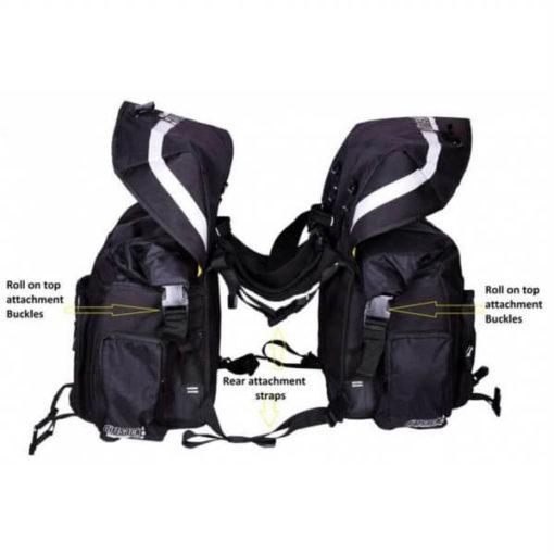 Dirtsack Long Ranger Pro Waterproof Black Saddle Bag2