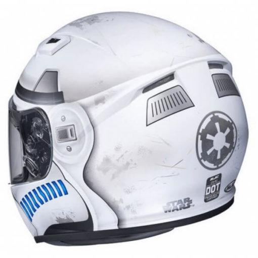 HJC CS 15 Stormtrooper MC10SF Matt White Grey Blue Full Face Helmet 1