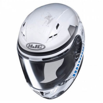 HJC CS 15 Stormtrooper MC10SF Matt White Grey Blue Full Face Helmet 2