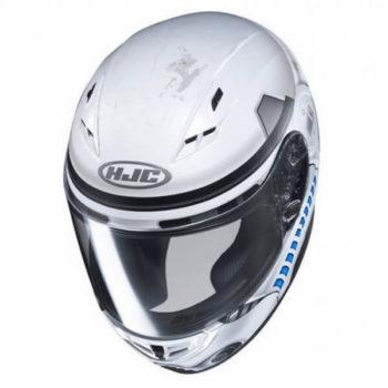 HJC CS 15 Stormtrooper MC10SF Matt White Grey Blue Full Face Helmet 2