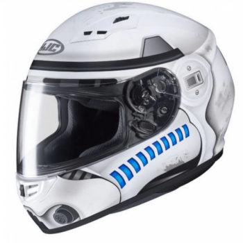 HJC CS 15 Stormtrooper MC10SF Matt White Grey Blue Full Face Helmet