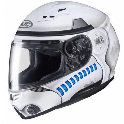 HJC CS 15 Stormtrooper MC10SF Matt White Grey Blue Full Face Helmet