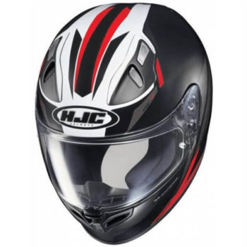 HJC FG17 Valve MC1SF Matt Black White Red Full Face Helmet 2