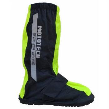 Mototech Trooper Fluorescent Green Black Boot Covers 1
