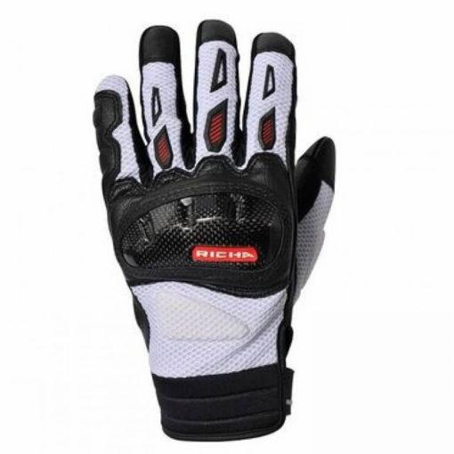 Richa Torsion Black White Riding Gloves