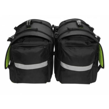 Rynox Drystack Waterproof Black Saddle bags1