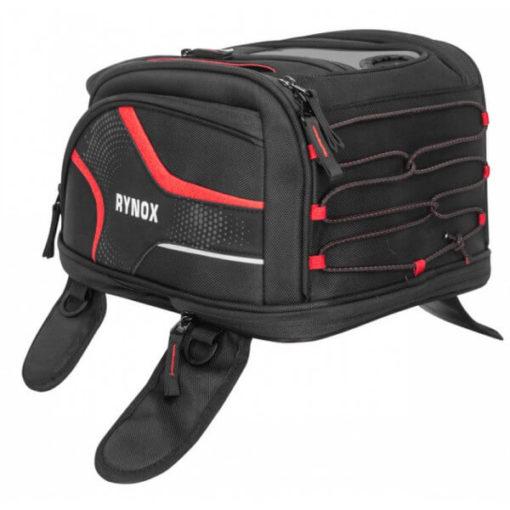 Rynox Magnapod Black Red Tank Bag1