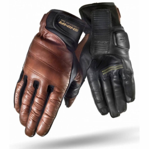 Shima Revolver Brown Riding Gloves